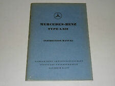 Betriebsanleitung Instruction Manual Mercedes Benz LKW Typ L312 L 312, 02/1961