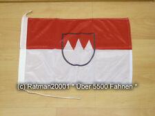 Fahnen Flagge Franken Bootsfahne Tischwimpel - 30 x 45 cm