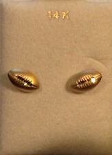 FOOTBALL~14K Solid Gold FOOTBALL Earring - FREE PRIORITY SHIP!