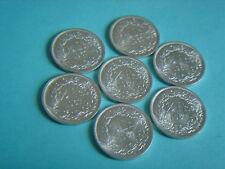 Silber-Münzen Schweiz 7 x 1/2 Franken 1967  Bern  fast Stg. Silver Coin Svizzera