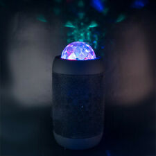 BLACK Disco Ball Wireless Bluetooth Stereo Speaker projects Coloured Lights