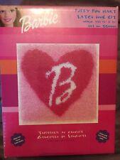 "Barbie Caron Fuzzy Fun Heart Latch Hook Kit 13"" x 13"" Bb0001 Craft Sealed Rare"
