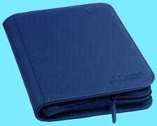 ULTIMATE GUARD DARK BLUE 4 POCKET XENOSKIN ZIPFOLIO Card Storage BINDER Album
