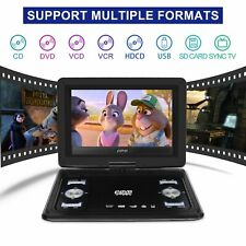 "10.1"" 13.9"" Portable Dvd Cd Player Game Hd 270° Screen Car Region Free + Remote"