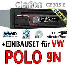 VW Polo 9N - Clarion BLUETOOTH | USB | CD | MP3 | AUX-IN |  Autoradio Einbauset