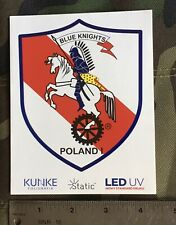 Blue Knights Law Enforcement Motorcycle Club Poland 1 Static Decal.