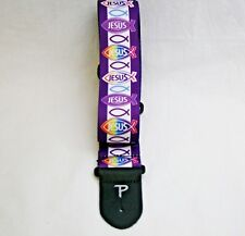 "Perri's Leathers Jesus Fish Guitar Strap Poly. w/Leather Ends Adjustable 39""-58"""