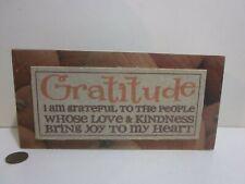 """Thanksgiving Fall Sign """"Gratitude.Love Kindness, Joy Heart"""" Box Blossom Bucket"""