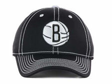 Brooklyn Nets NBA Licensed Adidas NBA Black Clima Lite Flex Fit Cap Hat Lid S/M