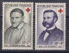 France année 1958 N° 1187** 1188** Croix Rouge lot 7435