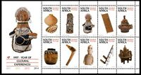 South Africa 1997 Cultural Experiences sheet of 10 Mint Unhinged