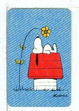 "Single Playing Card Miniature ""Peanuts, Snoopy"" Hallmark 1608 R"