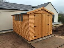 12x8 HEAVY DUTY APEX SHED -  22mm Barrel Board T/G, 3x2 FRAMEWORK