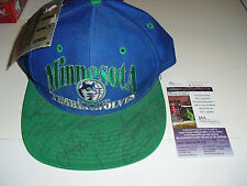Minnesota Timberwolves Team Signed NBA CAP LAETTNER WEST SPENCER LE /2000 JSA