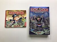 Monopoly: Here & Now PC CD-Rom Windows Game - Lot of 2 Games Free Shipping