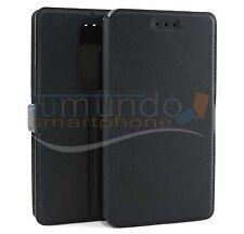 Cover Supporto di Pelle Nera Per LG Zero IN Spagna Case Flip Libro