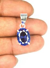 Oval 7.30 Ct Blue Tanzanite 925 Sterling Silver Pendant Natural Certified L9685