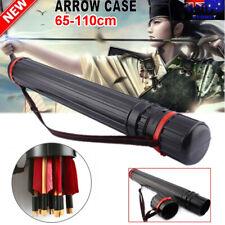 65-110cm Archery Arrow Holders Tube Bag Back Quiver Black Case Hunting Sport
