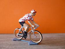 TRES BEAU CYCLISTE DU TOUR DE FRANCE MAILLOT A POIS / MEILLEUR GRIMPEUR