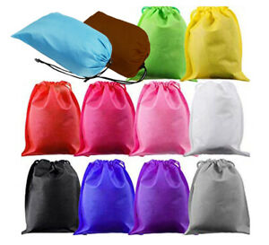 US 12PCS Boot Shoe Toy Storage Drawstring Bag Travel Organizer Large Dust-proof