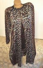 Vintage Vanity Fair Leopard Print medium Robe & 32 gown short Peignoir nylon #22