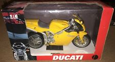 New Ray 1/6 Scale Ducati 998 Die Cast Model Motorcycle Die Cast Yellow Bike