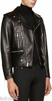 Tailor Custom Made Brando Style Genuine Lambskin Leather Jacket Biker Motorcycle
