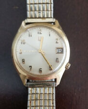 VINTAGE 218 BULOVA ACCUTRON WITH DATE FROM 1970, KEEPING TIME 14K GOLD FILLED