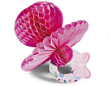 3 Pink Honeycomb Tissue Paper Dummy Decorations -  Baby Shower