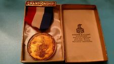 medal vintage 1951 Metropolitan AAU sterling silver weight lifting Dieges clust