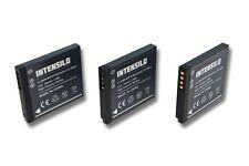 3x BATERIA Intensilo 700mAh PARA Panasonic Lumix DMC-FS28 DMC-FT20
