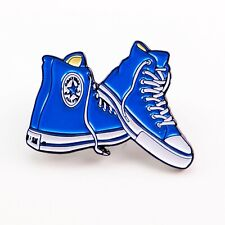Blue Converse Chucks Sneakers Shoes Collectible Pendant Lapel Hat Pin