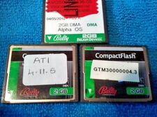 3 Bally 2GB COMPACT FLASH CARDS MISC CONTENT  SEE PHOTOS NOT TESTED