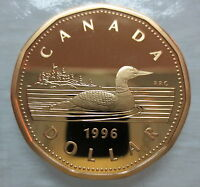 1996 CANADA LOONIE PROOF ONE DOLLAR COIN