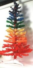 New Without Box Winter Wonder Lane 4 Feet Merry Rainbow Tree 70 Clear Lights