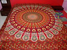 King Size Cotton Flat Bed Sheet Mandala Tapestry Bohemian Bedspread Wall Hanging