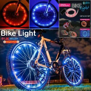 Pair 20 LED BIKE WHEEL LIGHTS WATERPROOF BICYCLE TYRE FRAME NIGHT LIGHT BLUE RED