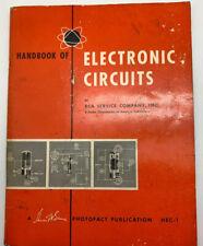 1958 Second PrintIng RCA Handbook of Electronic Circuits Photo Fact Publication