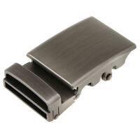 Grey Automatic Slide Buckle Replacement Metal Rectangle Ratchet Belt Buckles