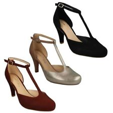Clarks Suede Slim Court Heels for Women