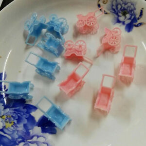 24x Girl Boy Plastic Mini Carts Baby Shower Baptism Table Confetti Decor