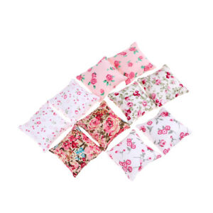 1PAIR Flower Pillow Cushions For Sofa Couch Bed 1/12 Dollhouse Miniature H^dm