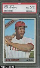 1966 Topps #104 Alex Johnson Philadelphia Phillies PSA 8 NM-MT