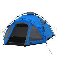QEEDO Quick Oak blau 3 Personen Campingzelt Sekunden Zelt Schnellaufbausystem