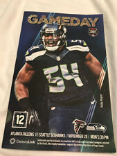 SEATTLE SEAHAWKS GAMEDAY PROGRAM: VS. FALCONS ON NOVEMBER 20, 2017