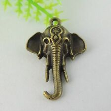 50PCS Antiqued Style Bronze Vintage Alloy Elephant Pendant Charms Hot 24*18*4mm