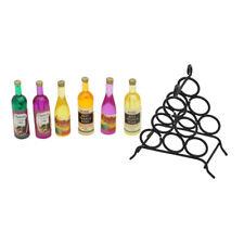 Doll House Miniature Kitchen Dollhouse Furniture Mini Wine & Rack 1:12 Scale