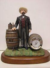 JACK DANIEL'S DISTILLERY CLOCK sculpture NEW in BOX with COA