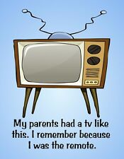 METAL FRIDGE MAGNET Parents TV Like This I Was Remote Family Friend Humor Funny