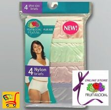 Fruit of the Loom Women's Fit for Me Plus Size 100%25 Nylon Briefs (Value Packs)